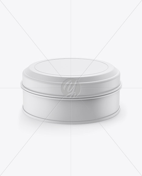 Download Matte Round Tin Box Mockup Front View High Angle Shot In Box Mockups On Yellow Images Object Mockups PSD Mockup Templates
