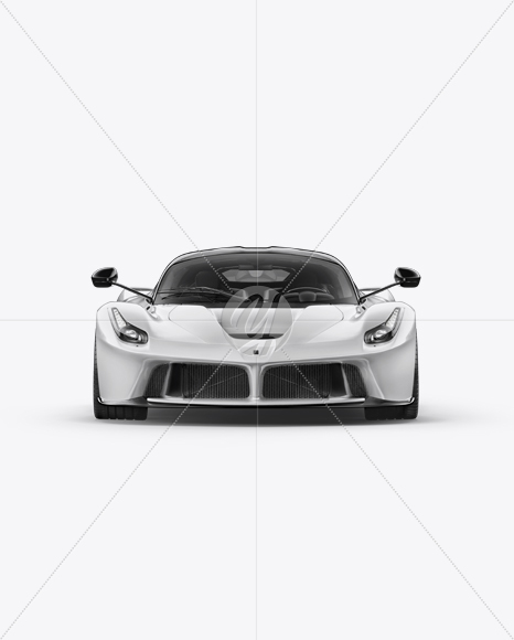 Super Car Mockup - Front View