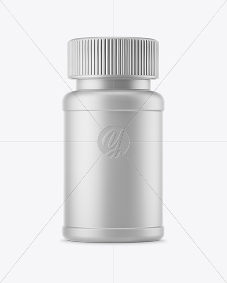 Matte Plastic Pills Bottle Mockup