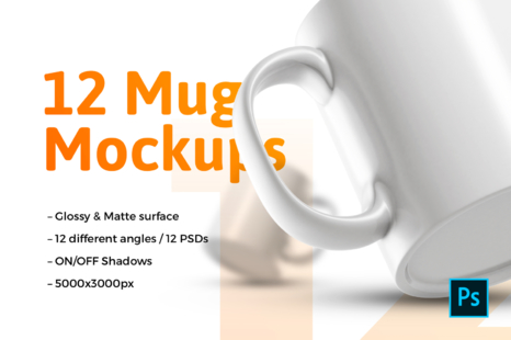 Download 12x Mug Mockups In Packaging Mockups On Yellow Images Creative Store Yellowimages Mockups