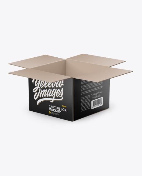 Download Glossy Opened Box Mockup PSD - Free PSD Mockup Templates