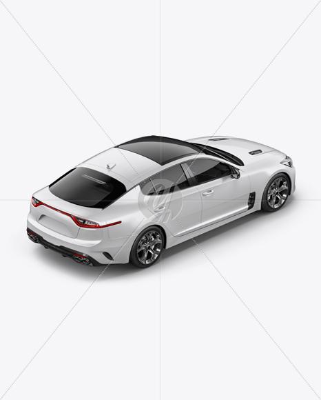 Sport Car Mockup - Back Half Side View (High-Angle Shot)
