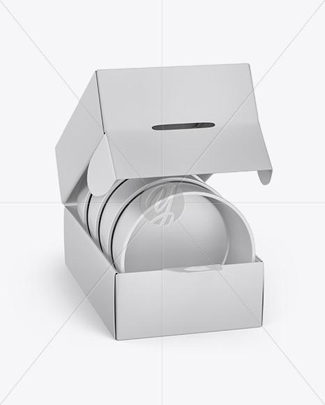 Matte Box with Plates Mockup