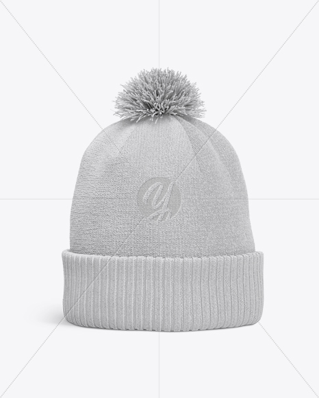 Winter Hat Mockup - Front View