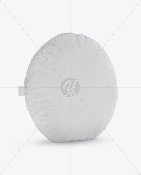 Round Pillow Mockup - Half Side View
