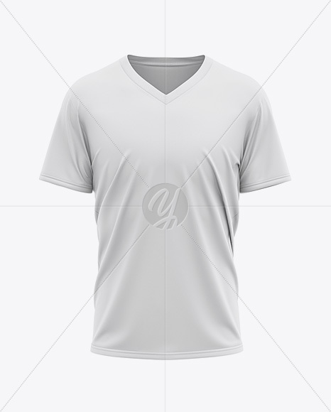 Men's Loose Fit V-Neck Graphic T-Shirt – Front View