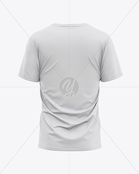 Men's Loose Fit V-Neck Graphic T-Shirt - Back View