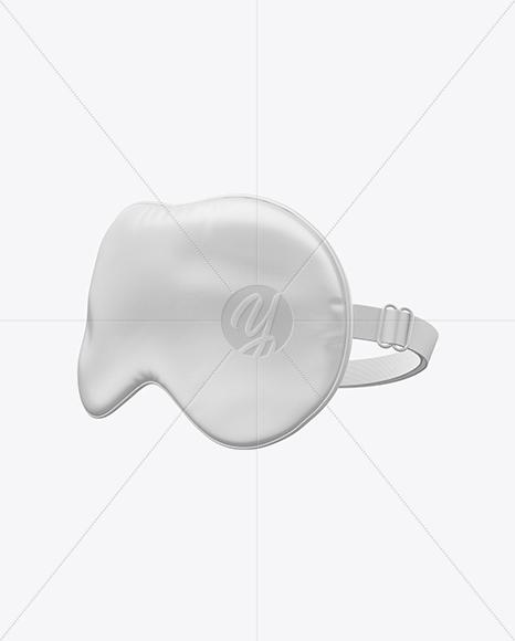 Silk Sleep Mask Mockup - Half Side View in Object Mockups