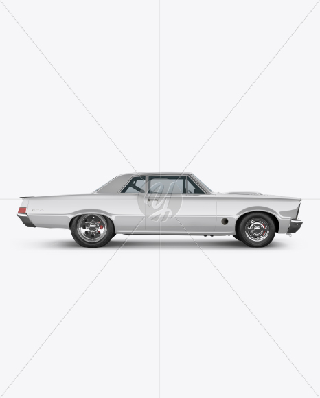 Muscle Car Mockup - Side View