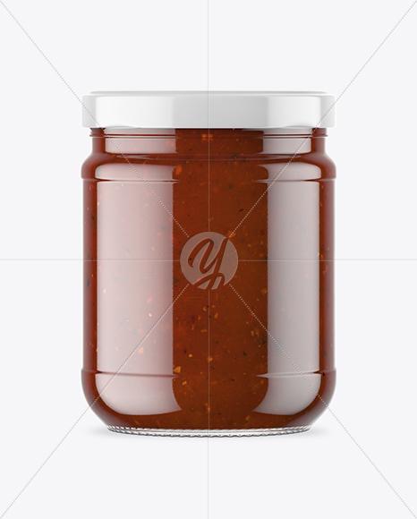 Download Clear Glass Chipotle Sauce Jar Mockup PSD - Free PSD Mockup Templates