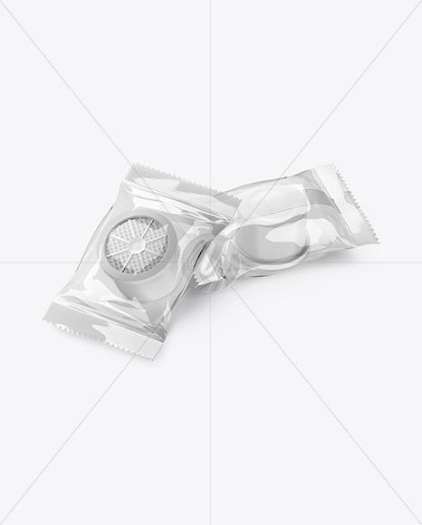Transparent Flow Packs w/ Capsules Mockup