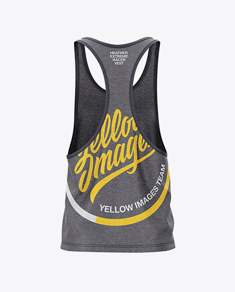 Download Mens Heather Sleeveless Shirt Mockup Front View Yellowimages