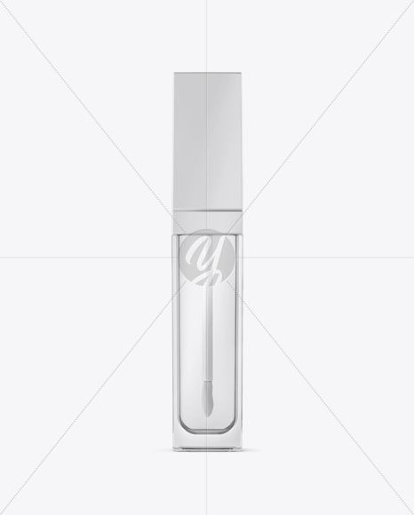 Clear Lip Gloss Bottle Mockup