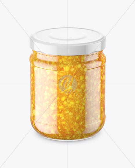 Download Clear Glass Orange Jam Jar Mockup In Jar Mockups On Yellow Images Object Mockups PSD Mockup Templates