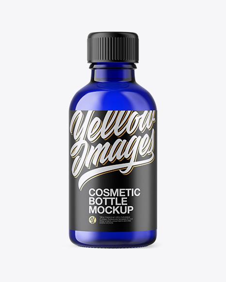 50ml Blue Glass Сosmetic Bottle
