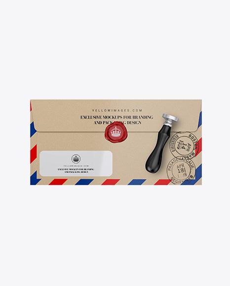 Kraft Envelope Mockup