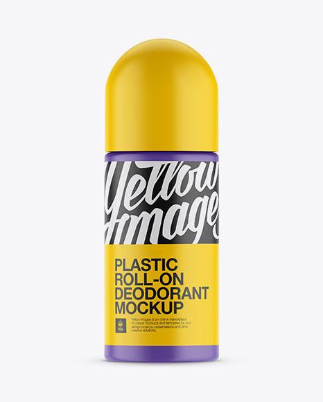 Plastic Matte Roll-On Deodorant Mockup