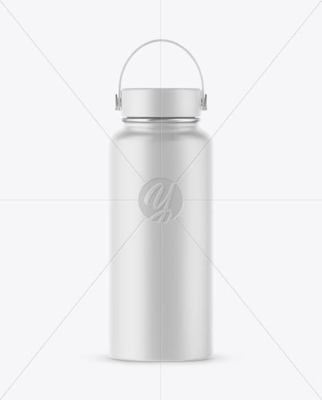 Matte Wide-Mouth Water Bottle Mockup