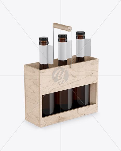 Amber Bottle Carrier Mockup
