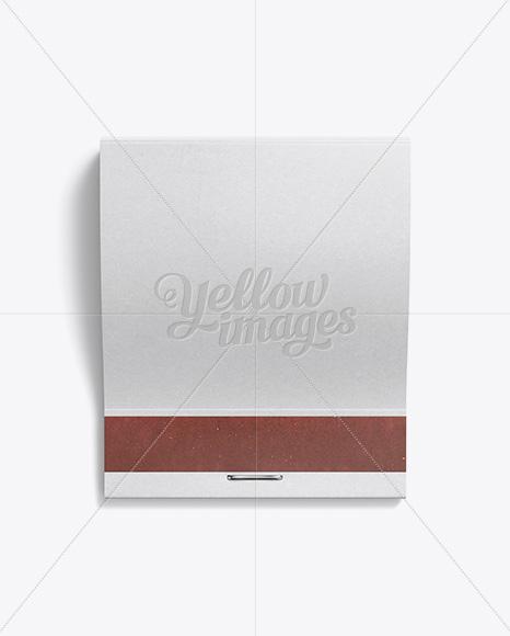 Download Carton Matchbook Mockup - Top View Jersey Mockups