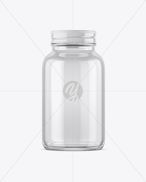 Download Empty Clear Glass Pills Bottle Mockup In Bottle Mockups On Yellow Images Object Mockups PSD Mockup Templates