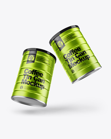 Download Two Matte Coffee Tin Cans Mockup PSD - Free PSD Mockup Templates