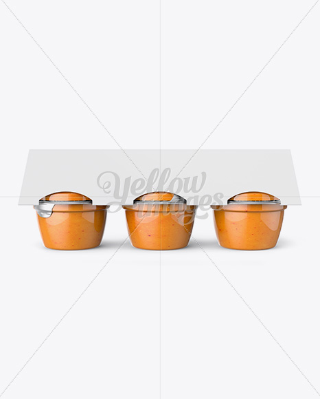 Peach Apple Sauce 6-4 Oz. Cups Mockup - Front View