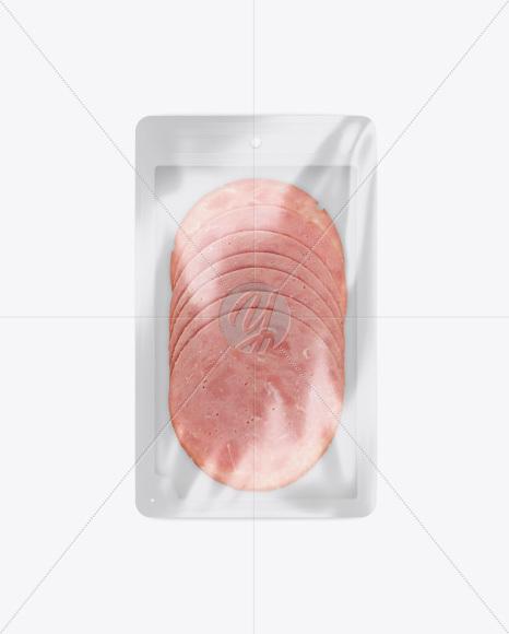 Tray With Ham Mockup