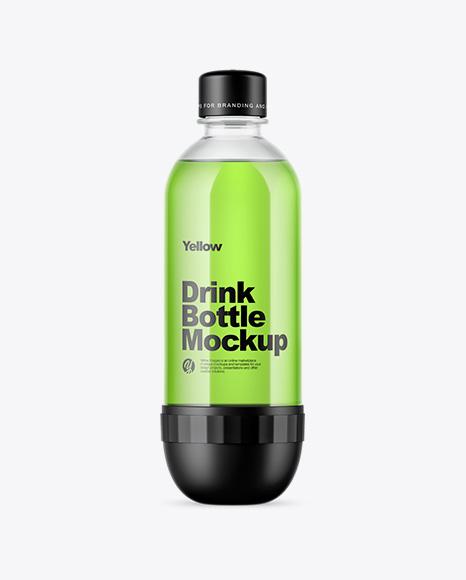 Clear Pet Energy Drink Bottle Mockup In Bottle Mockups On Yellow