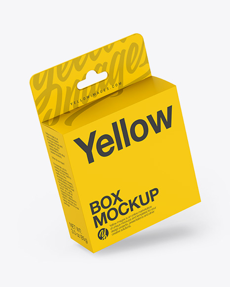 Matte Paper Box with Hang Tab Mockup