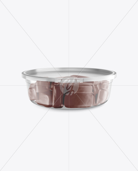 Transparent Container w/ Sweets Mockup