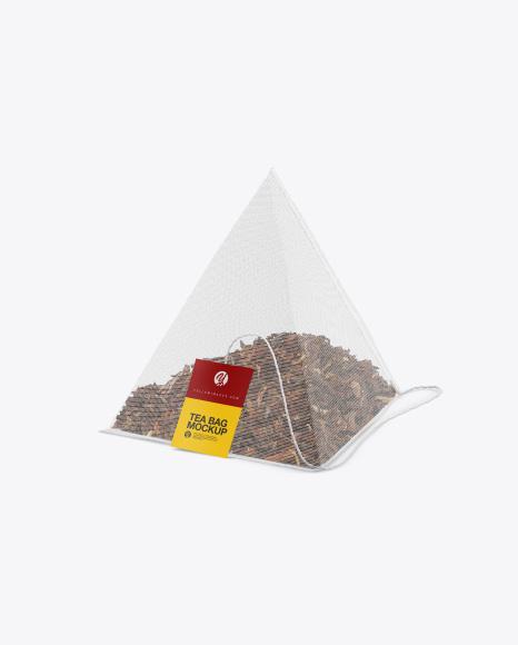 Pyramid Tea Bag Mockup Packaging Mockups - Free Download