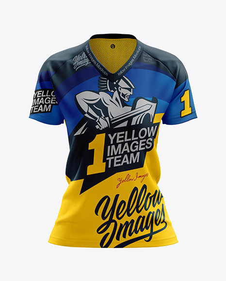 Women's MTB Trail Jersey mockup (Front View)