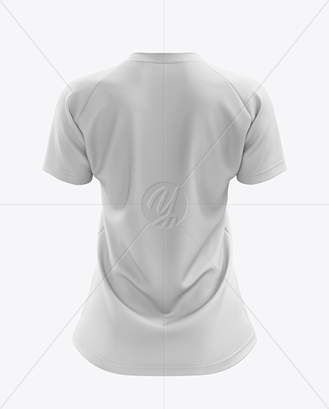 Women's MTB Trail Jersey mockup (Back View)