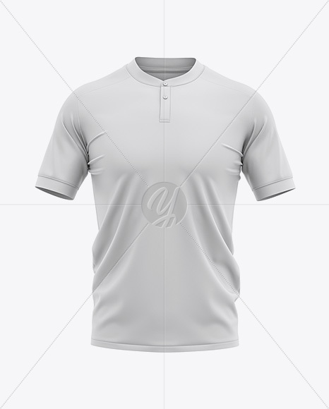 Download Men S Henley Collar Soccer Jersey Mockup Front View Football Jersey Soccer T Shirt In Apparel Mockups On Yellow Images Object Mockups PSD Mockup Templates