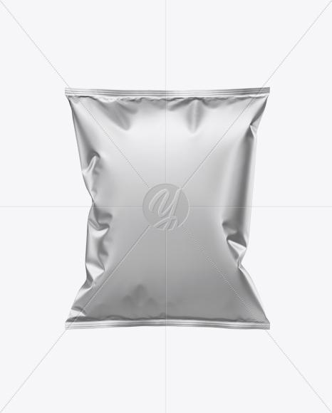 Matte Metallic Snack Package Mockup