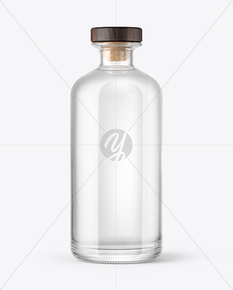 Download Frosted Glass Bottle With Wooden Cap Mockup PSD - Free PSD Mockup Templates