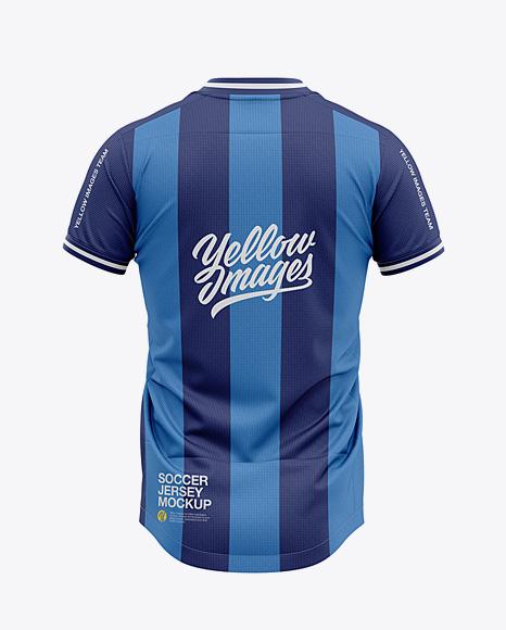 Men's V-Neck Soccer Jersey Mockup - Back View - Football Jersey Soccer T-shirt