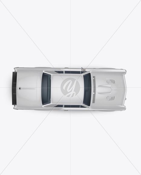 Download Muscle Car Mockup - Top View Jersey Mockups