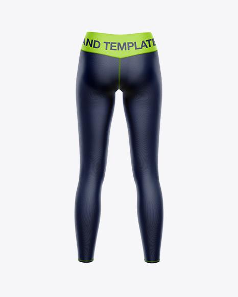 Women's Leggings Mockup - Back view