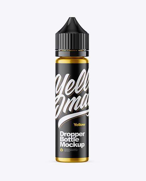 60ml Metallic Dropper Bottle Mockup
