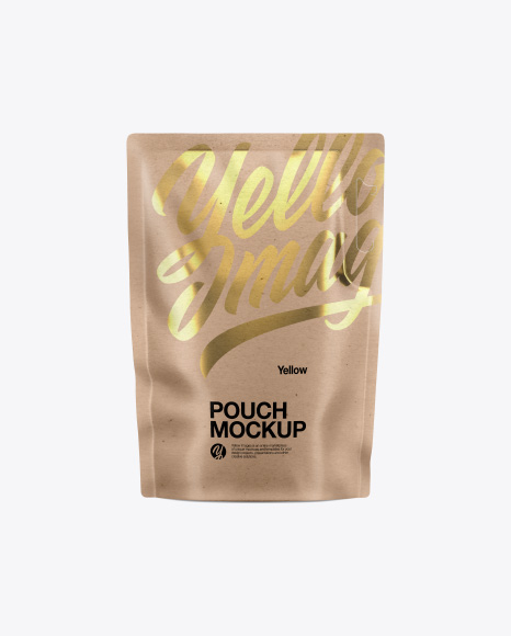Glossy Kraft Pouch Mockup