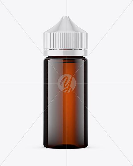 100ml Amber Glass Dropper Bottle Mockup in Bottle Mockups