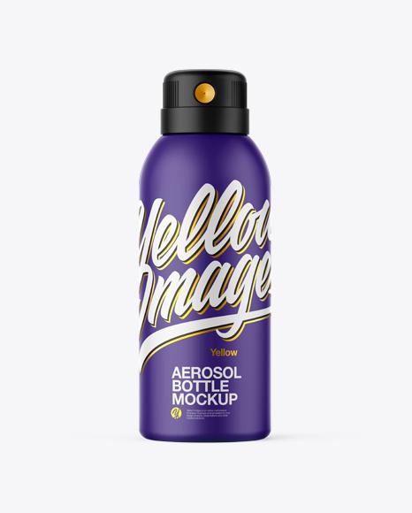 Matte Aerosol Bottle Mockup