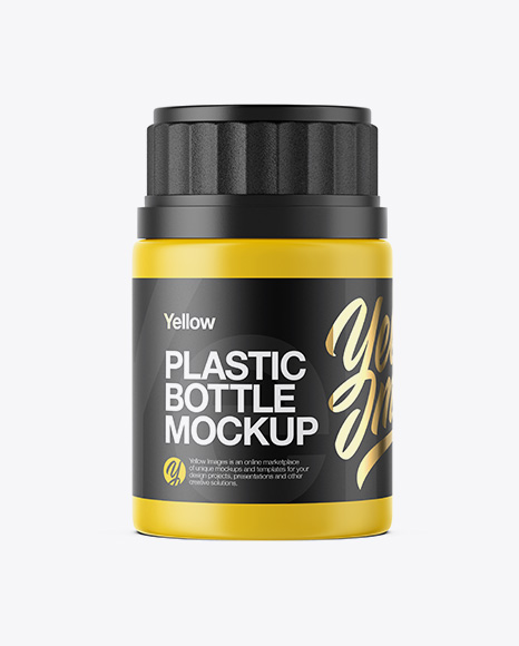 75 ml Plastic Pills Bottle Mockup