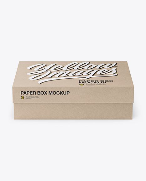 Kraft Box Mockup - Front View