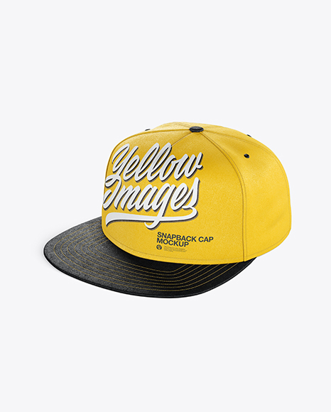 Download Snapback Cap Mockup Front View Yellowimages