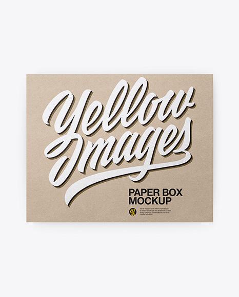 Kraft Box Mockup - Top & Front Views