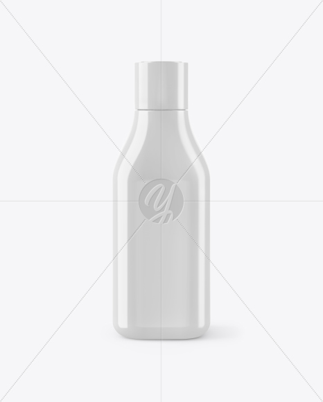Glossy Square Bottle Mockup