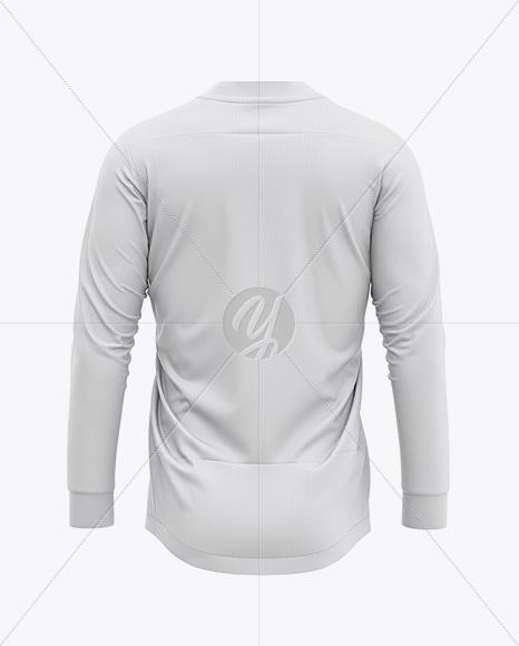 Men's V-Neck Socer Jersey LS Mockup - Back View - Football Jersey Soccer T-shirt